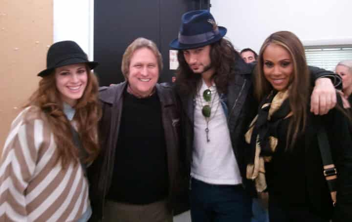 Backstage at The Kennedy Center. (L to R) Teal Wicks (Emma), Steve Cuden, Constantine Maroulis (Jekyll & Hyde), Deborah Cox (Lucy)